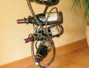 Кованая подставка под вино 0009
