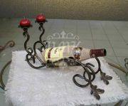 Кованая подставка под вино 0011