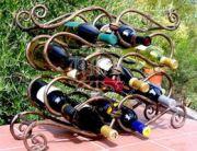 Кованая подставка под вино 0001