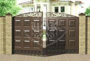 филёнчатые ворота 5