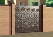 филёнчатые ворота 12