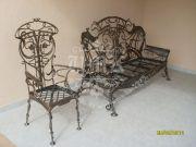 Кованая лавочка и кованый стул 21
