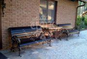 Кованая скамейка 22